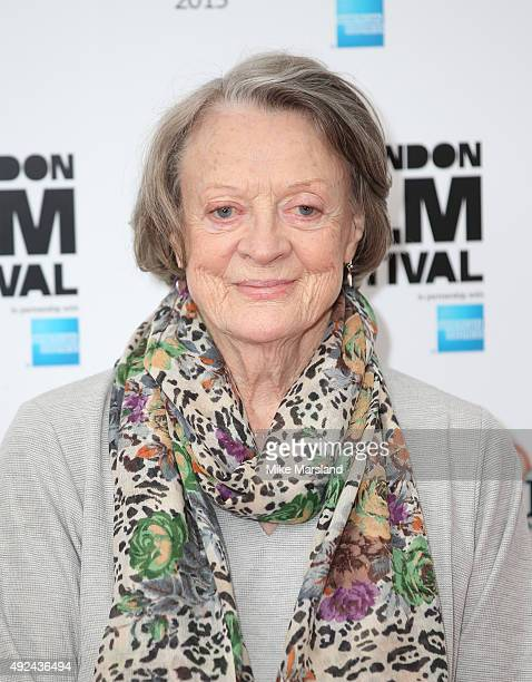 Maggie Smith attends a photocall for 'The Lady In The Van' during the BFI London Film Festival at May Fair Hotel on October 13 2015 in London England