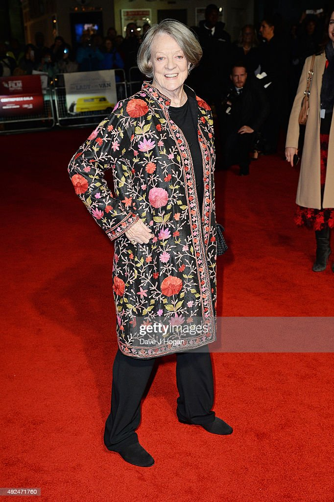 <a gi-track='captionPersonalityLinkClicked' href=/galleries/search?phrase=Maggie+Smith&family=editorial&specificpeople=206821 ng-click='$event.stopPropagation()'>Maggie Smith</a> attends a screening of 'The Lady In The Van' during the BFI London Film Festival at Odeon Leicester Square on October 13, 2015 in London, England.
