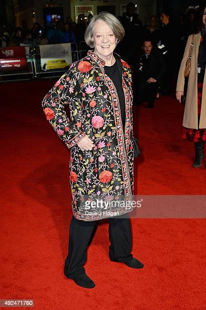 Maggie Smith attends a screening of 'The Lady In The Van' during the BFI London Film Festival at Odeon Leicester Square on October 13 2015 in London...