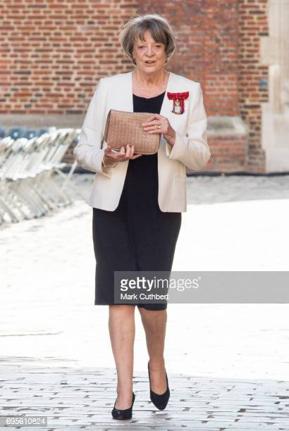 Maggie Smith attends Evensong in celebration of the centenary of the Order of the Companions of Honour at Hampton Court Palace on June 13 2017 in...