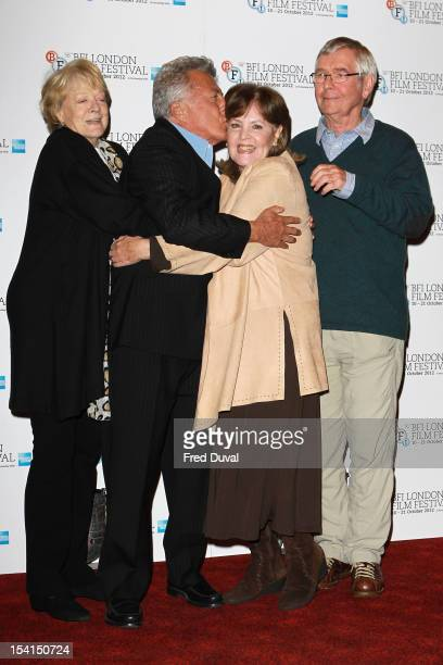 Maggie Smith Dustin Hoffman Pauline Collins and Tom Courtney attends the Photocall for 'Quartet' at the BFI London Film Festival at Empire Leicester...