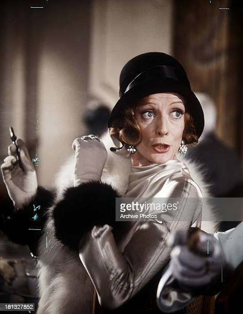 Maggie Smith is startled in a scene from the film 'Travels With My Aunt' 1972