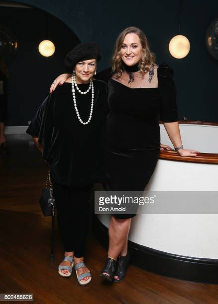 Maggie Tabberer and Lauren Miller arrive ahead of The Harry M Miller Group 20th Anniversary Party on June 28 2017 in Sydney Australia
