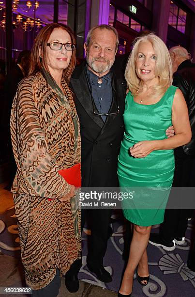 Maggie Weston Terry Gilliam and Amanda Nevill attend the Al Pacino BFI Fellowship Dinner supported by Moet Chandon at the Corinthia Hotel London on...