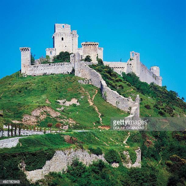 Maggiore fortress medieval origin Assisi Umbria Italy