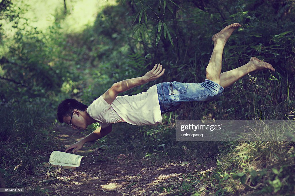 Magic  book Levitation : Stock Photo