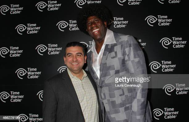 Magic Johnson and Buddy Valastro attend Time Warner Cable Studios And Aspire Bring Soul To The Big Game on January 31 2014 in New York City