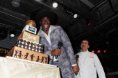 Magic Johnson and Buddy Valastro onstage at Time Warner Cable Studios And Aspire Bring Soul To The Big Game on January 31 2014 in New York City