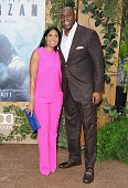 Magic Johnson and Cookie Johnson arrive at the Los Angeles Premiere 'The Legend Of Tarzan' at TCL Chinese Theatre on June 27 2016 in Hollywood...