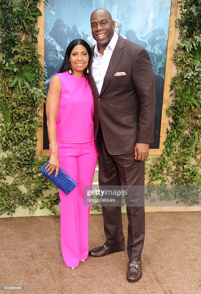 Magic Johnson and Cookie Johnson arrive at the premiere of Warner Bros. Pictures' 'The Legend Of Tarzan' at TCL Chinese Theatre on June 27, 2016 in Hollywood, California.