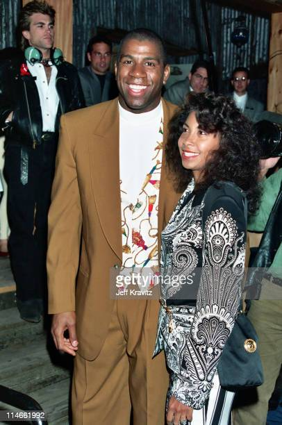 Magic Johnson and Cookie Johnson during Opening of House of Blues Los Angeles Arrivals at The House of Blues in Los Angeles CA United States