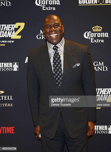 Magic Johnson arrives at Showtime's VIP PreFight party for 'MAYHEM MAYWEATHER VS MAIDANA 2' at MGM Grand Garden Arena on September 13 2014 in Las...