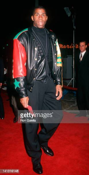 Magic Johnson at the Premiere of 'The Five Heartbeats' Mann Village Theater Westwood