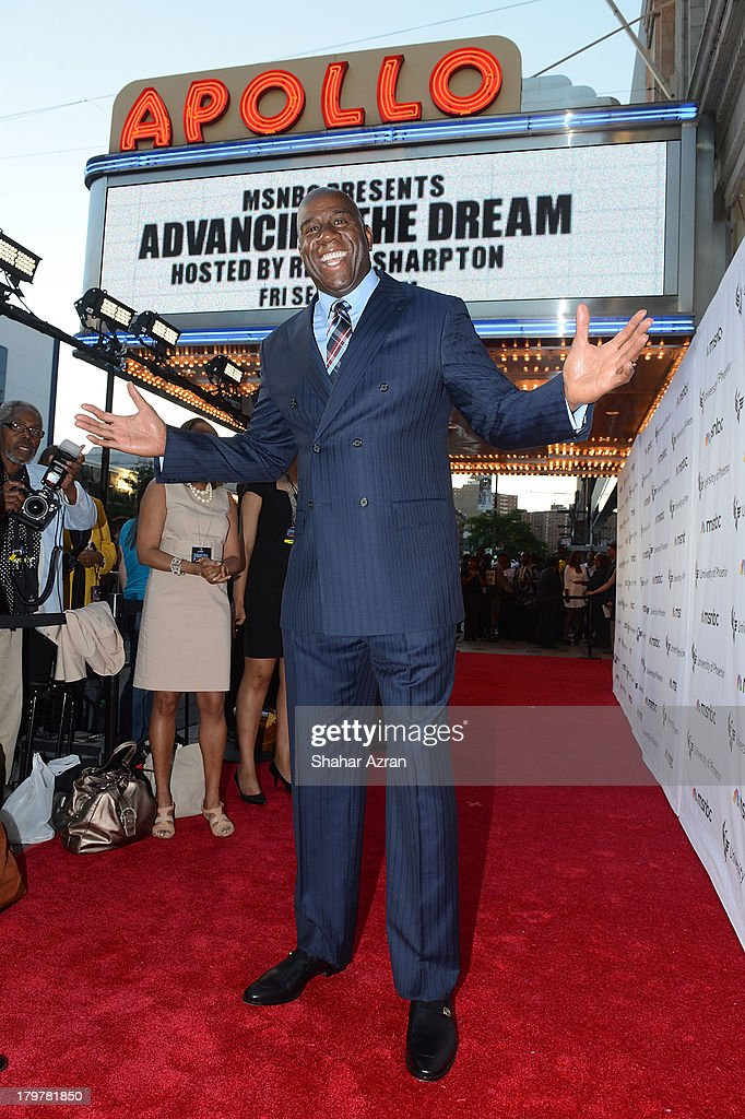 Magic Johnson attends 'Advancing The Dream: Live From The Apollo' Hosted By Reverend Al Sharpton at The Apollo Theater on September 6, 2013 in New York City.