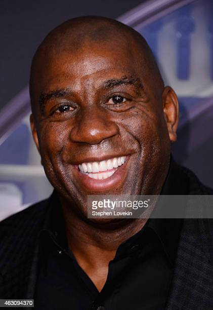 Magic Johnson attends 'Kingsman The Secret Service' New York Premiere at SVA Theater on February 9 2015 in New York City