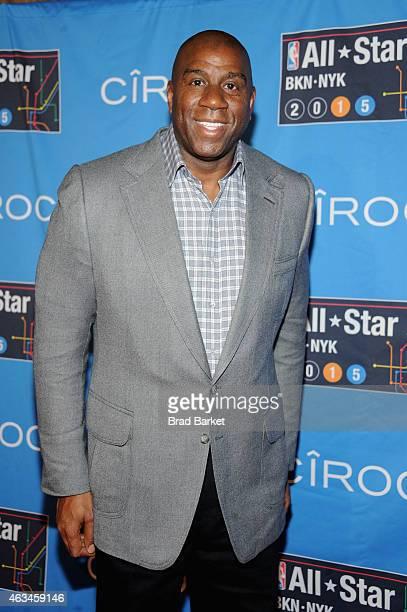 Magic Johnson attends State Farm AllStar Saturday Night NBA AllStar Weekend 2015 at Barclays Center on February 14 2015 in New York New York