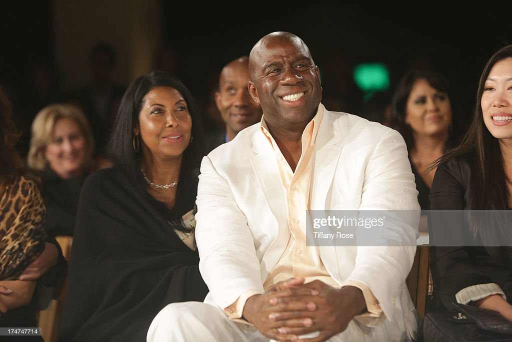 Magic Johnson attends the 15th Annual DesignCare benefiting The HollyRod Foundation on July 27, 2013 in Malibu, California.