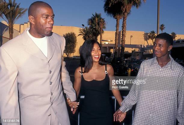 Magic Johnson Cookie Johnson and Andre Johnson at the Screening of 'Hoodlum' Magic Johnson Theaters Los Angeles