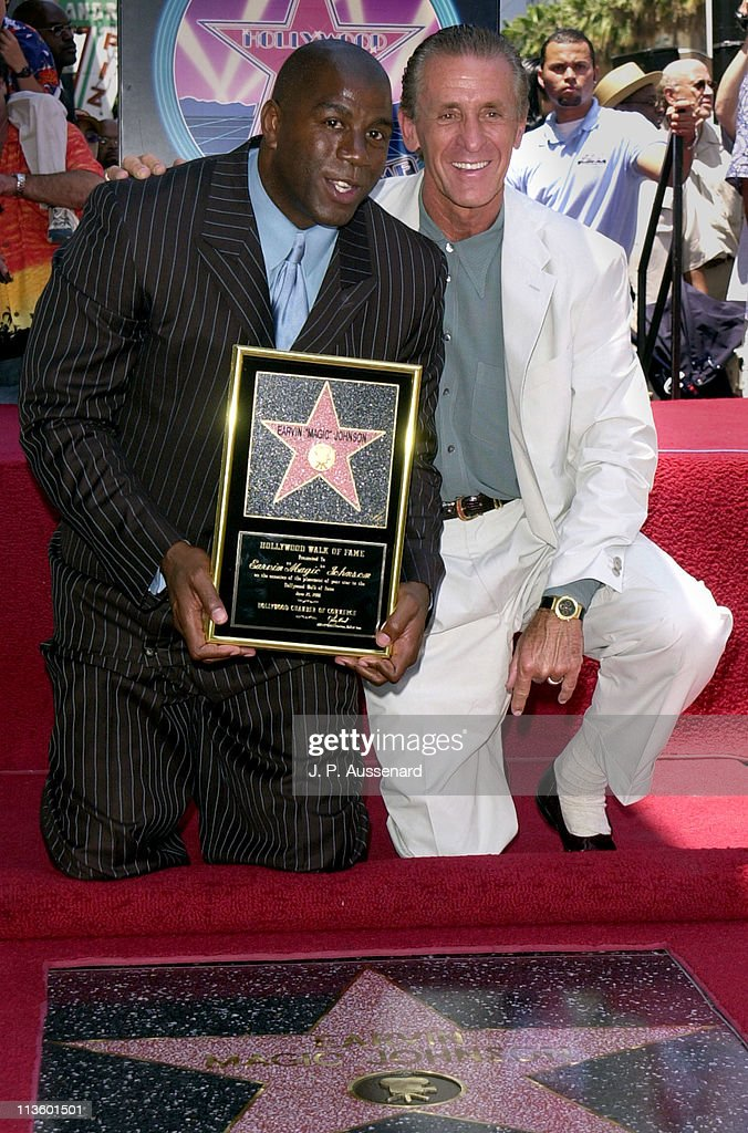 "Earvin ""Magic"" Johnson Honored with a Star on the Hollywood Walk of Fame"