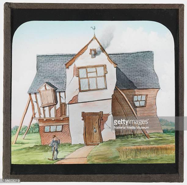 Magic lantern slide George Bucklands Version of The House That Jack Built 1870s