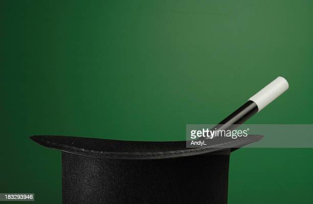 Magic Props on a Green Background with Space for Copy