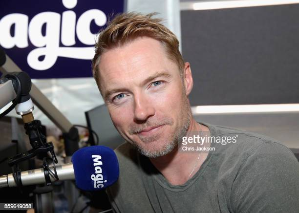 Magic Radio Breakfast with Ronan Keating on October 10 2017 in London England Boyzone are visiting Magic Radio Breakfast as they are set to reunite...