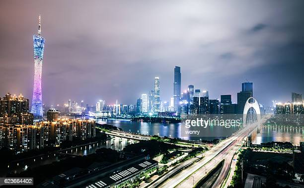 Magic urban night at guangzhou