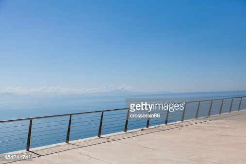 magic view from wide terrace over blue ocean : Stock Photo