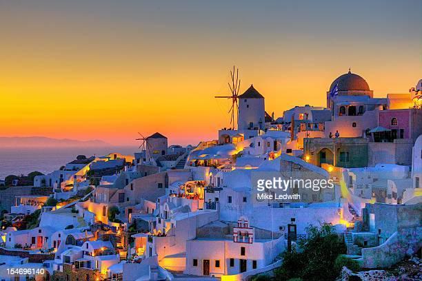 A magical Santorini sunset