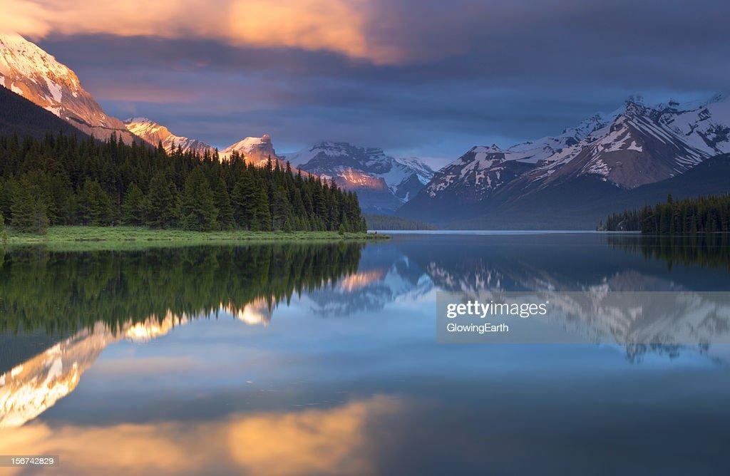 Magical Sunset at Maligne Lake