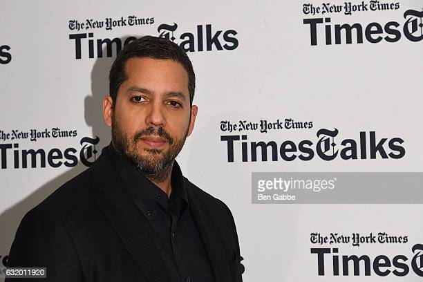 Magician David Blaine attends TimesTalks at Florence Gould Hall on January 18 2017 in New York City