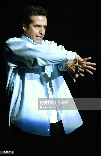 Magician David Copperfield performs at 'The Magic of David Copperfield' at the Kodak Theatre on November 29 2002 in Hollywood California