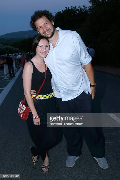 Magician Eric Antoine and his Australian companion Calista attend the 'Madame Foresti' show of Humorist Florence Foresti during the 31th Ramatuelle...