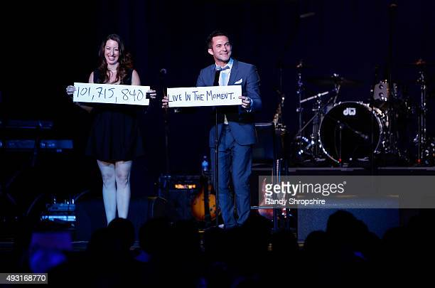Magician Justin Willman performs onstage during Hilarity for Charity's Annual Variety Show James Franco's Bar Mitzvah benefitting the Alzheimer's...