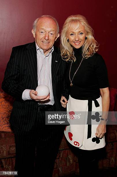 Magician Paul Daniels and his wife Debbie McGee attend a private screening of 'The Illusionist' at The Soho Hotel on February 26 2007 in London...