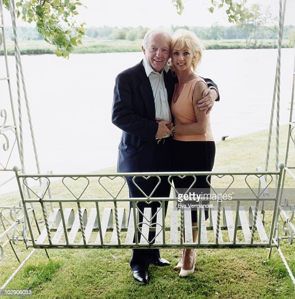 Magician Paul Daniels with Debbie MaGee pose for a portrait shoot in London UK