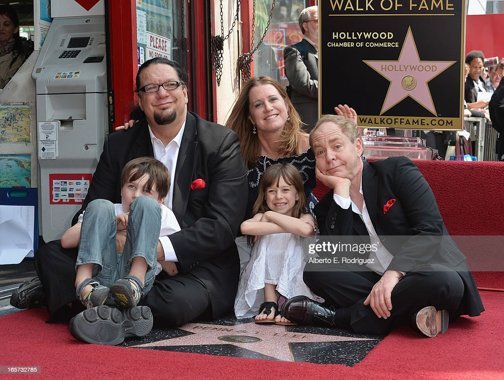 Magician Penn Jillette Zolten Penn Jillette Emily Zolten Moxie Crimefighter Jillette and magician Teller attend a ceremony honoring Penn Teller with...