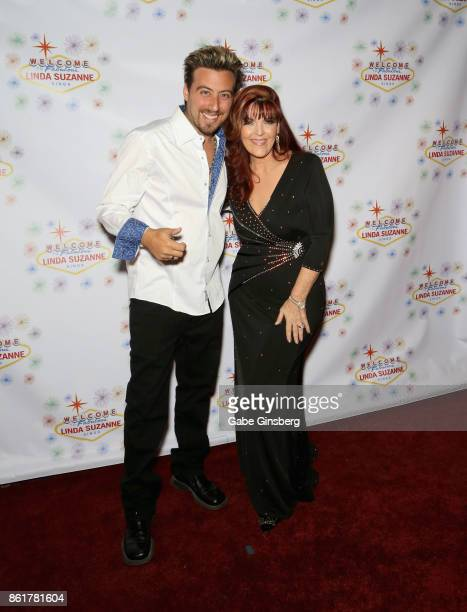 Magician Tommy Wind and singer Linda Suzanne attend the debut of Suzanne's show 'Linda Suzanne Sings Divas of Pop' at the South Point Hotel Casino on...
