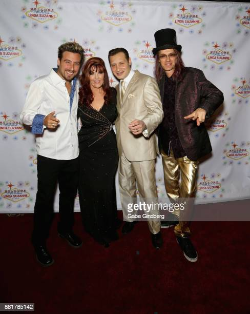 Magician Tommy Wind singer Linda Suzanne entertainer David De Costa and band leader John Wakerman attend the debut of 'Linda Suzanne Sings Divas of...