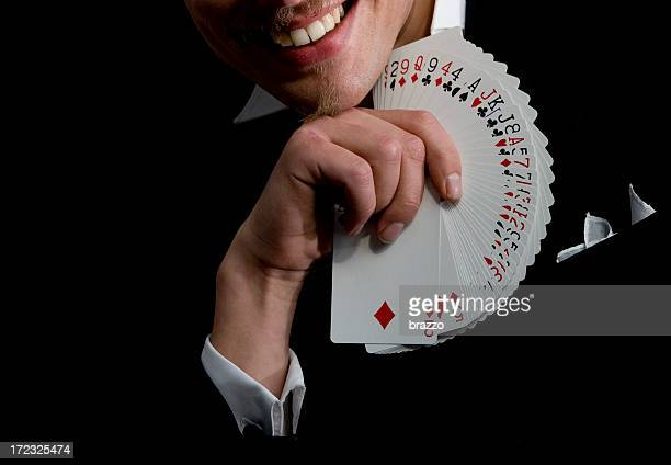 Magician with playing cards