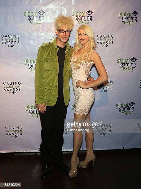 Magician/comedian Murray SawChuck and his wife entertainer Chloe Louise Crawford arrive at the Casino Entertainment Awards at G2E at the Plaza Hotel...