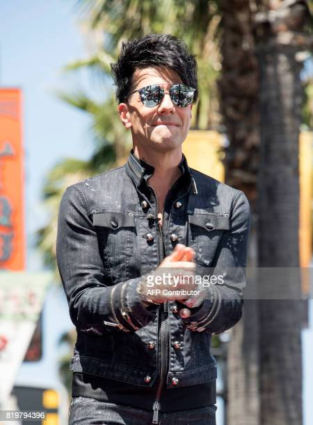 Magicien Criss Angel looks on during his star unveiling ceremony on the Hollywood Walk of Fame on July 20 in Hollywood California / AFP PHOTO /...