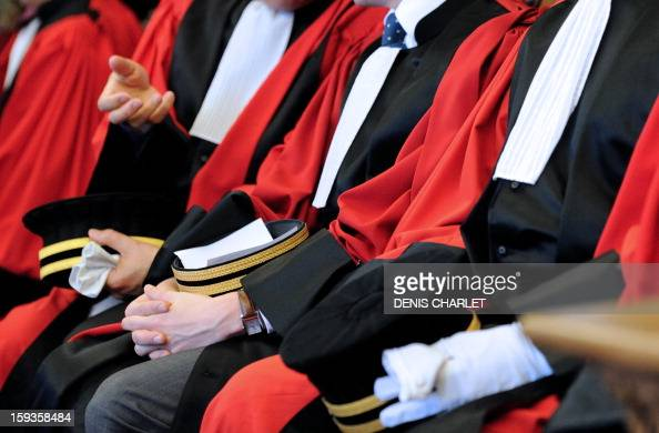 Magistrates attend a formal sitting of the appeal court in Douai northern France on January 10 to mark the beginning of the court's judicial year AFP...