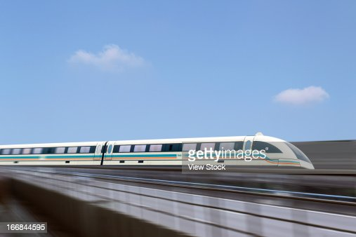 Maglev train in Shanghai,China