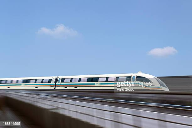 Maglev train in Shanghai,China