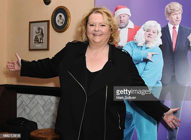 Magna Szubanski arrives at The Print Room on September 2 2015 in Sydney Australia