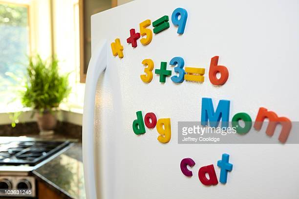 Magnetic Numbers on Refrigerator