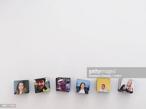 Magnetic Pictures Against White Background