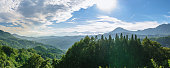 Magnificent scenery of the Northern Alps in Nagano, Japan