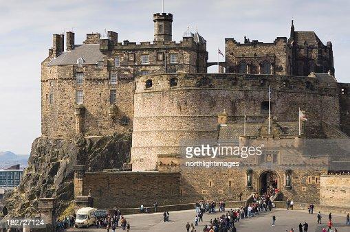 Magnificent view of Edinburgh Castle